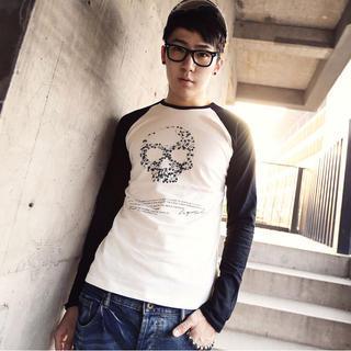 Long-sleeve Printed Raglan T-shirt