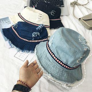 Distressed Denim Bucket Hat