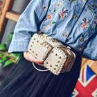 Studded Buckled Clutch