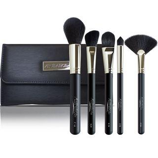 Aesthetica Cosmetics - 5 Piece Pro Brush Set With Pouch 5 Brushes Set