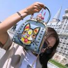 Cat Embroidery Handbag
