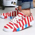 Canvas Striped Sneakers