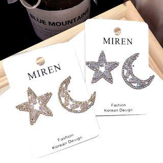 Star And Moon Mismatch Earring