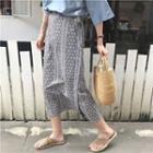 Pattern Midi-skirt