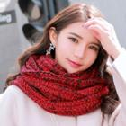 Melange Knit Circle Scarf