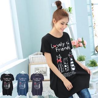 Loose-fit Printed T-shirt Dress