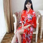 Printed Robe Dress