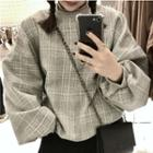 Plaid Oversized Pullover