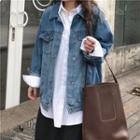 Denim Shirt Jacket Blue - One Size