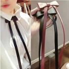 Bow Faux Leather Necklace