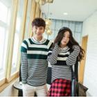 Couple Striped Knit Pullover