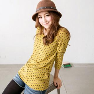 Long-sleeve Dotted T-shirt
