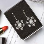 Snowflake-drop Earrings