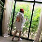 Lettered Hoodie & Shorts Lounge Set Melange White - One Size