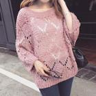Balloon-sleeve Sweater