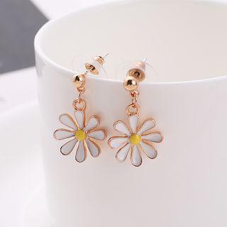 Alloy Daisy Dangle Earring Daisy - One Size
