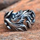 Titanium Steel Dragon Pattern Ring