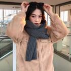 Faux Fur Buttoned Jacket