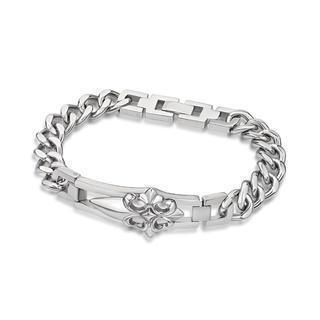 Steel Cross Bracelet Silver - One Size