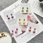Fruit Acrylic Ball Earrings