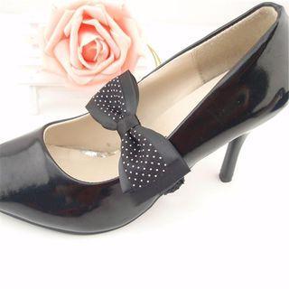 Set: Bow-accent Shoe Decoration + Shoes Strap