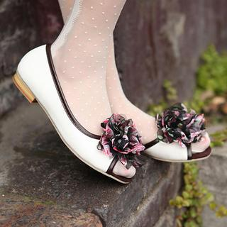 Corsage-accent Flats