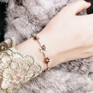 Rose Gold Plated Floral Bracelet