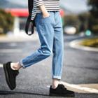 Tapered Cropped Jeans