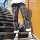 Plaid Straight Fit Pants As Shown In Figure - One Size