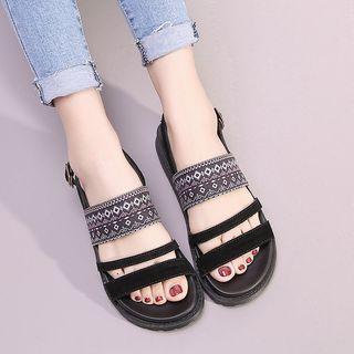 Platform Pattern Sandals