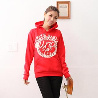 Hooded Printed Pullover