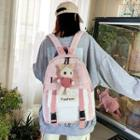 Doll Charm Plaid Buckled Backpack