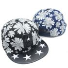 Applique Floral Baseball Cap
