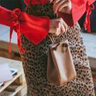 Genuine-leather Mini Bucket Cross Bag