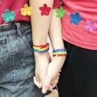 Rainbow Nylon Bracelet 2 Pcs - Rainbow - One Size