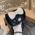 Faux Pearl Bow Crossbody Bag