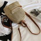 Straw Woven Lightweight Backpack