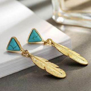 Jeweled Leaf Earrings