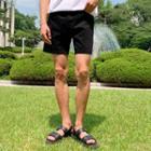 Elasticized-waist Denim Shorts