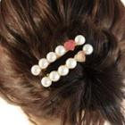 Faux-pearl Hair Clip