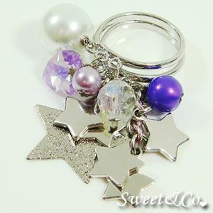 Sweet Stars And Pearl Silver Ring
