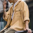 Pocket-detail Pinstripe Oversize Shirt
