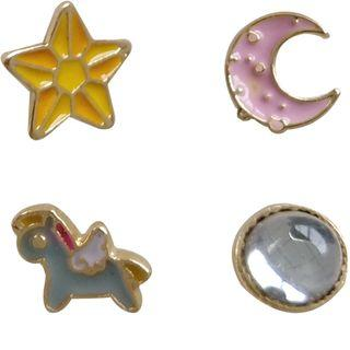 Set Of 4: Rainbow Unicorn Ring (various Designs)