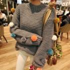Pom-pom Chunky Knit Sweater