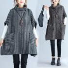 Striped Elbow-sleeve Pullover