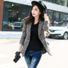 Plaid Single-buttoned Blazer