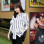 Flap-front Stripe Shirt