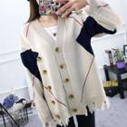 Patterned Ripped Cardigan