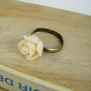 Peach Rose Copper Ring Copper - One Size
