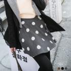 Dotted Woolen Flare Culottes